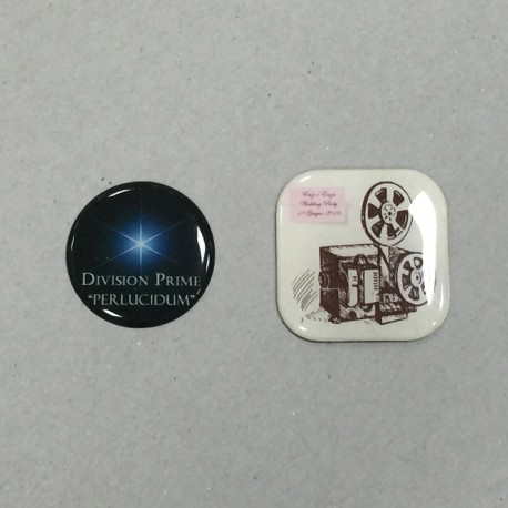 Resin domed stickers OR