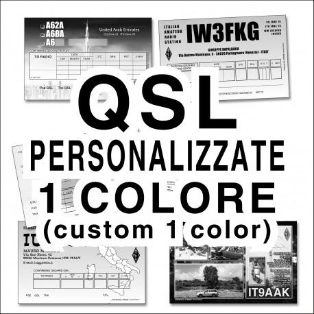 QSL personalizzate 1 colore