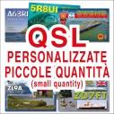 QSL personalizzate a colori - piccole quantità
