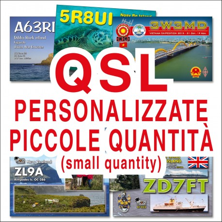Custom full colors QSL CARDS - small quantity