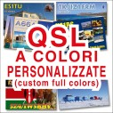 QSL personalizzate a colori