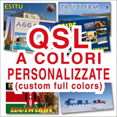 Custom full colors QSL CARDS - small quantity