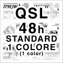 Standard 1 color QSL cards