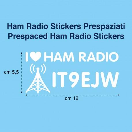 Prespaced Ham Radio Stickers