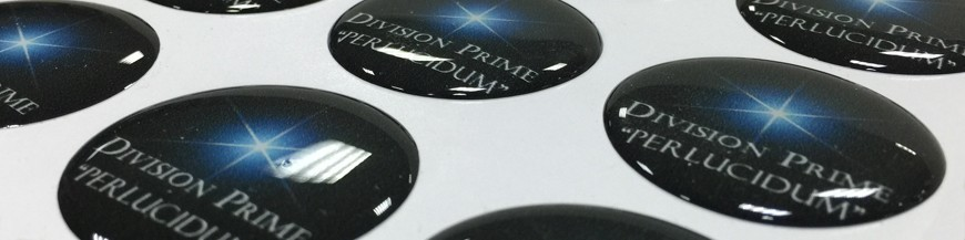 Resin domed stickers